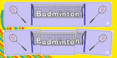 Rio 2016 Olympics Badminton Display Banner