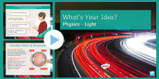 KS3 How We See What's Your Idea? PowerPoint