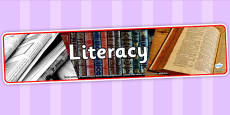 Literacy Photo Display Banner