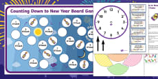 Counting Down to New Year Board Game