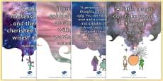 Roald Dahl Quotes Display Posters