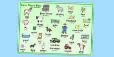 Farm Word Mat 2 EAL Arabic Translation
