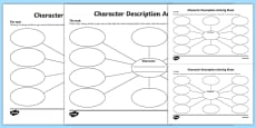 Character Description Activity Sheet Pack