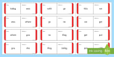 Sight Words Loop Cards - Red Loop Cards