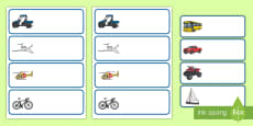 Etiquetas de perchero: Transporte