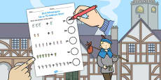 Dick Whittington Up to 10 Addition Sheet