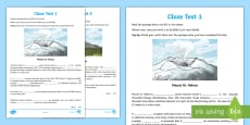 Volcano Themed Cloze Test Activity Sheets