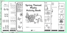Spring Themed Maths Activity Book