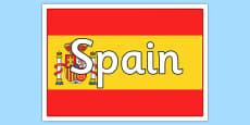 Spanish Flag Poster