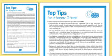 Top Tips for a Happy Ofsted