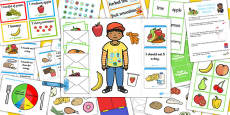 Healthy Eating Lapbook Creation Pack