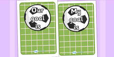 Editable Going For Goals Display Pack