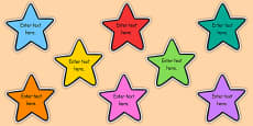 School Goals Editable Stars
