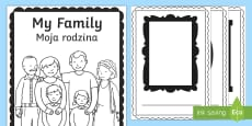 * NEW * My Family Book English/Polish
