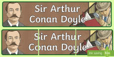 * NEW * Scottish Significant Individual Sir Arthur Conan Doyle Display Banner