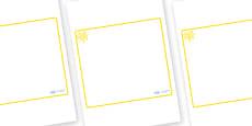 Yellow Themed Editable Classroom Area Display Sign