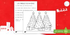 Ficha de actividad - Los árboles de Navidad
