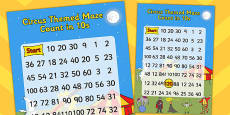 Circus Themed Counting in 10s Maze