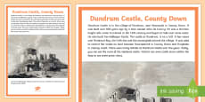 Dundrum Castle A4 Display Poster