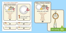 How to Make a Dreamcatcher Activity Cards