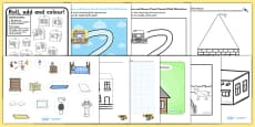 Houses and Homes Themed Fine Motor Skills Pack