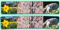 Four Seasons Photo Display Banners Spring