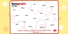 Homographs Word Mat