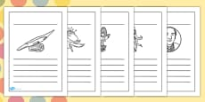 Roald Dahl Themed Writing Frames
