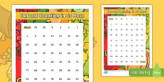 Harvest  Counting in 5s Maze Activity Sheet