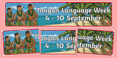 Tongan Language Week Display Banner