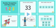 Year 1 Number Recognition and Place Value Warm-Up PowerPoint
