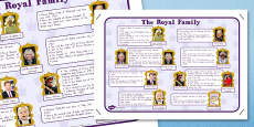 Australia - Royal Family Large Information Poster A2