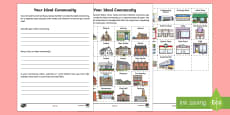 * NEW * Your Ideal Community Differentiated Activity Sheets