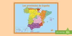 * NEW * Póster DIN A2: Las provincias de España
