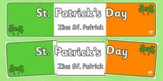 St Patrick's Day Display Banner Romanian Translation