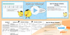 PlanIt English Y1 Term 2B Assess and Review Spelling Pack