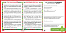 KS1 The Mischievous Elf Differentiated Reading Comprehension Activity Romanian/English