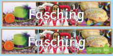 Fasching Foto Banner für die Klassenraumgestaltung