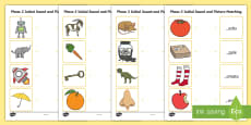 Phase 2 Initial Sound and Picture Matching Activity Sheet