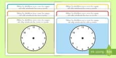 Tapiz de plastilina: Decir la hora