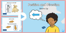 Year 1 Position and Direction Warm-Up PowerPoint