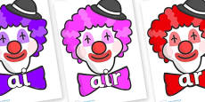 Phase 3 Phonemes on Clown Faces