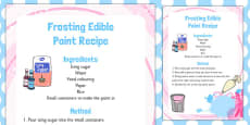 Frosting Edible Paint Recipe