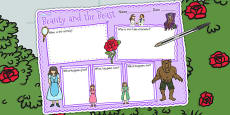 Beauty and the Beast Book Review Writing Frame