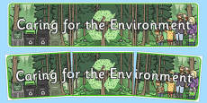 Caring for the Environment Display Banner