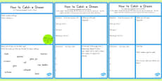 BFG How to Catch a Dream Instructions Worksheet