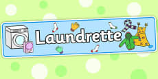 Laundrette Role Play Display Banner