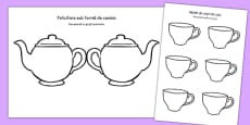 Tea Pot Mother's Day Card Blank Romanian