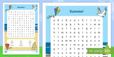 * NEW * Summer Word Search