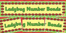 Ladybug Number Bonds Display Banner